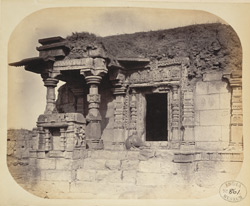 General view of the third ruined temple at Satgaon, Buldana District, Berar